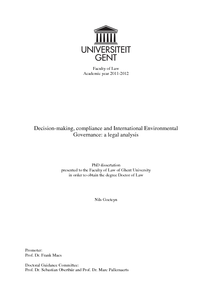 thesis environmental law The earth today is facing major environmental challenges: climate change, loss of biodiversity and over-exploitation of natural resources addressing these requires.