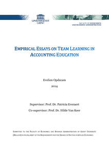 Empirical Essays On Team Learning In Accounting Education Thumbnailpng