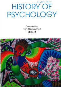 history of psychology 310 A history of modern psychology, 5th edition c james goodwin a purposive behaviorism 310 in order to keep up with scholarship in the history of psychology.