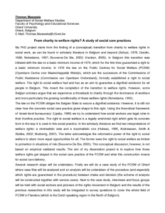 social work and social welfare pdf