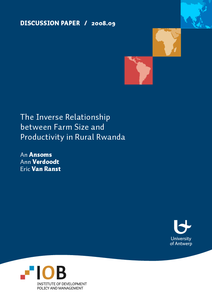 inverse size-productivity thesis Discussion paper / 200809 the inverse relationship between farm size and productivity in rural rwanda an ansoms ann verdoodt eric van ranst comments on this discussion paper are invited.